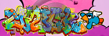 Colourful Graffiti Villereversure La Gare, France-9975-Edit 