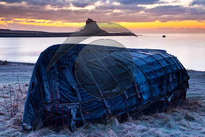 Holy Island Lindisfarne & Fishermans Boat House, sunrise-8389 